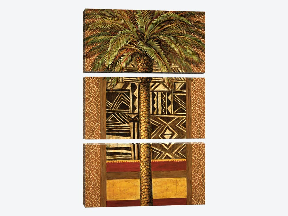 African Evening II by André Mazo 3-piece Canvas Print