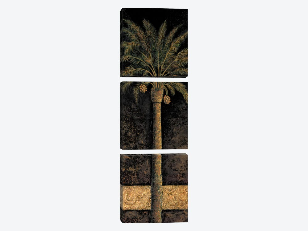 Dusk Palms I by André Mazo 3-piece Canvas Print