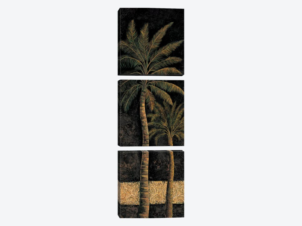 Dusk Palms II by André Mazo 3-piece Canvas Artwork
