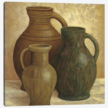Vasi di terracotta Canvas Print #MAZ6} by André Mazo Art Print