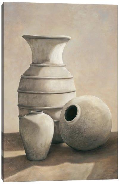 Vasi bianchi Canvas Art Print