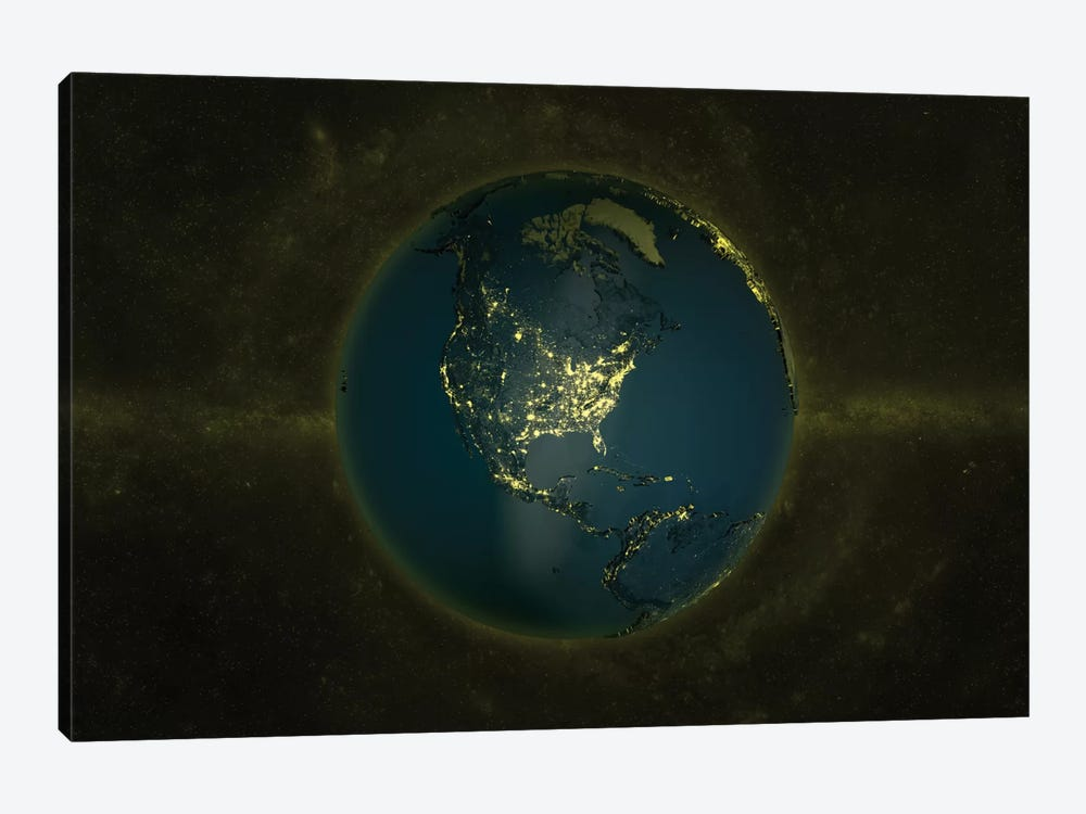 The Globe Series: Lights Of The Americas by Marco Bagni 1-piece Art Print