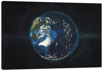 LowPoly Arctic Canvas Art Print