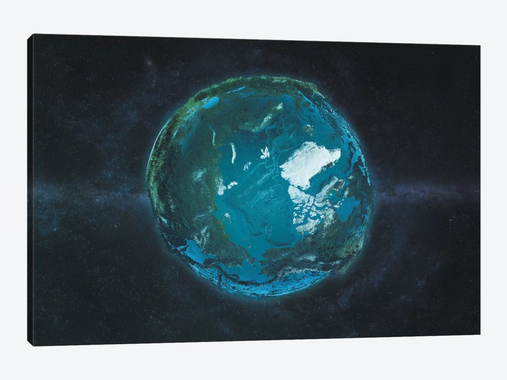 The Arctic In Relief by Marco Bagni 1-piece Canvas Art