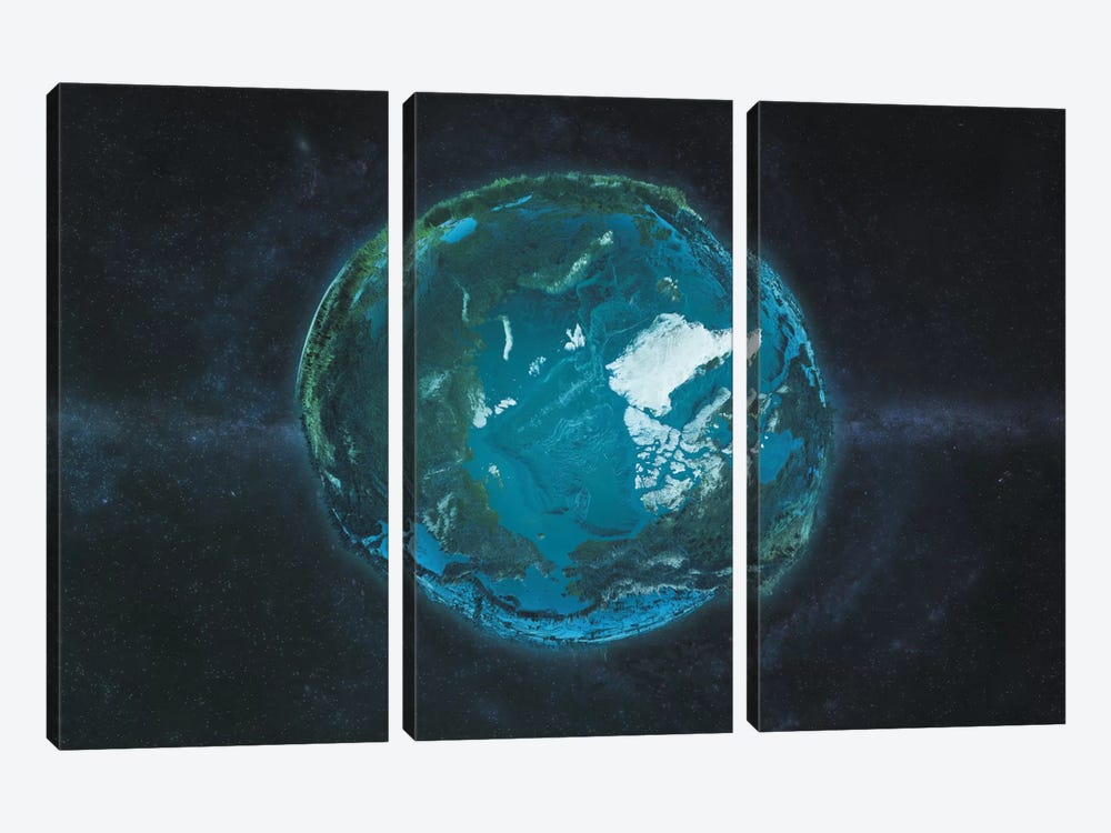 The Arctic In Relief by Marco Bagni 3-piece Canvas Art