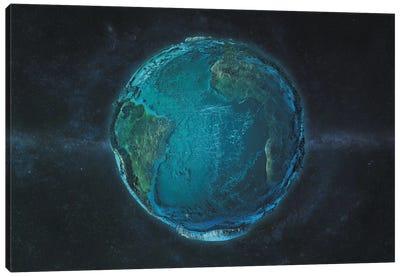 The Atlantic In Relief Canvas Art Print