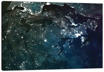 The Upside Down Earth Series: Europe Canvas Print #MBA18