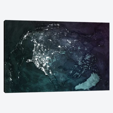 The Upside Down Earth Series: North America Canvas Print #MBA19} by Marco Bagni Art Print
