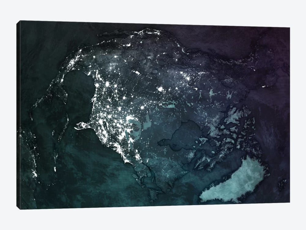 The Upside Down Earth Series: North America by Marco Bagni 1-piece Canvas Artwork