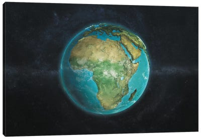 The Globe Series: A Physical View Of Africa Canvas Art Print