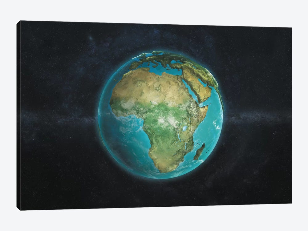 The Globe Series: A Physical View Of Africa by Marco Bagni 1-piece Canvas Art Print