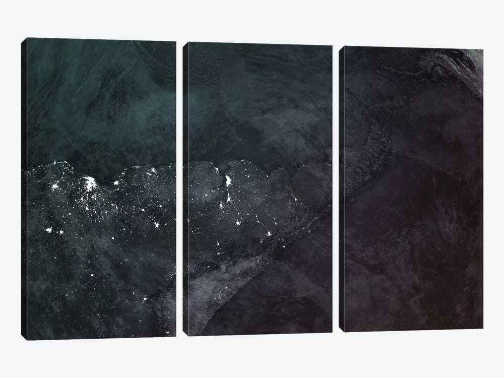 The Upside Down Earth Series: South America 3-piece Canvas Artwork