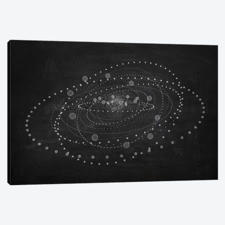 The Chasing Space Series: Core I (Dark) Canvas Print #MBA22} by Marco Bagni Canvas Wall Art