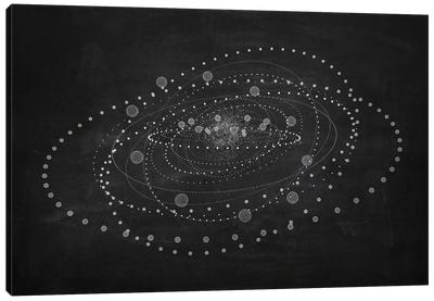The Chasing Space Series: Core I (Dark) Canvas Art Print