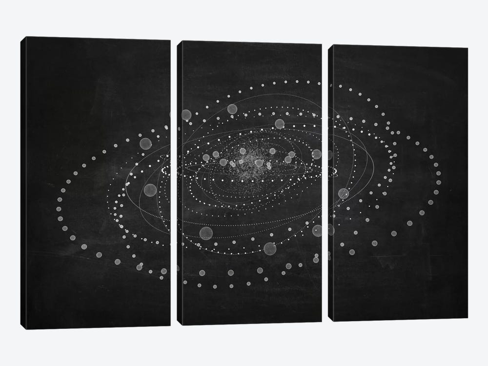 The Chasing Space Series: Core I (Dark) by Marco Bagni 3-piece Canvas Wall Art