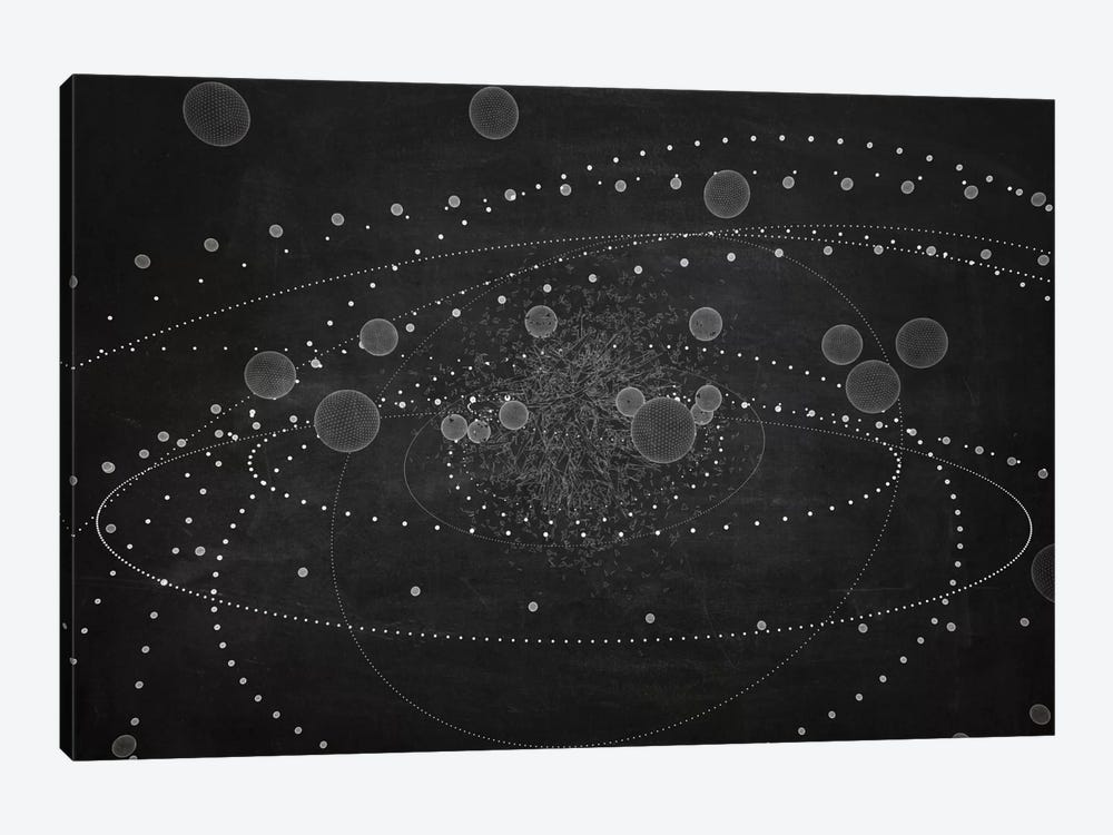 The Chasing Space Series: Core III (Dark) by Marco Bagni 1-piece Canvas Art