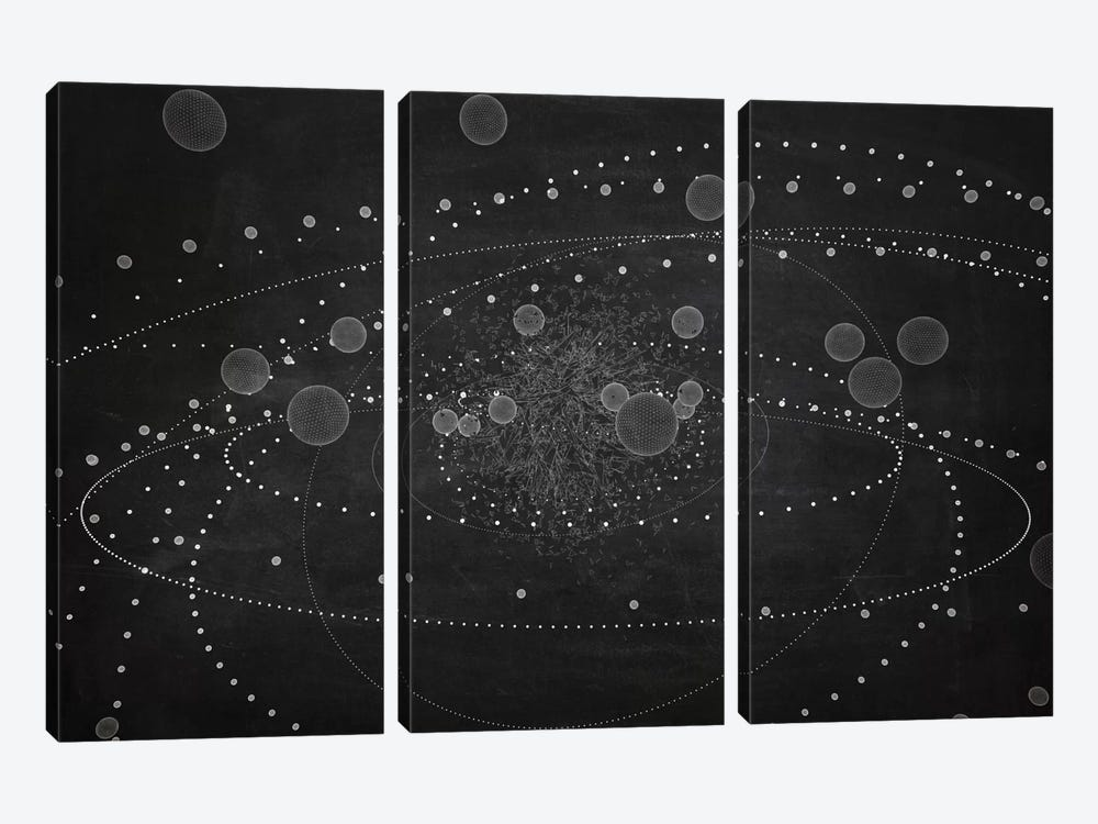 Core III (Dark) by Marco Bagni 3-piece Canvas Art