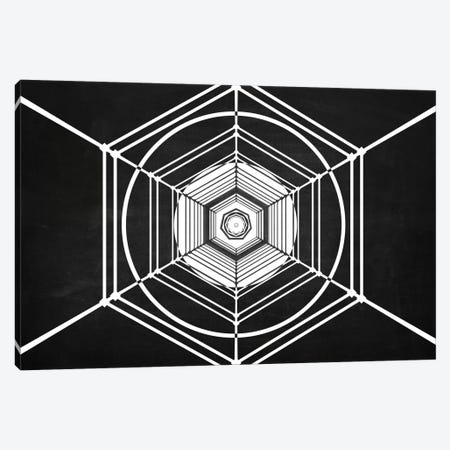 Hexa (Dark) Canvas Print #MBA28} by Marco Bagni Canvas Wall Art