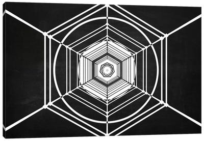 Hexa (Dark) Canvas Art Print