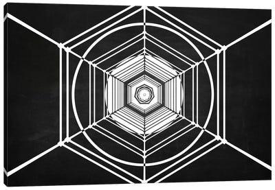 Hexa (Dark) Canvas Art Print