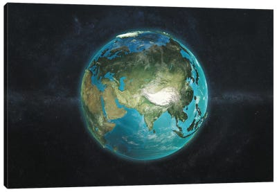 The Globe Series: A Physical View Of Asia Canvas Art Print