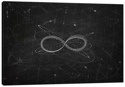 The Chasing Space Series: Loop I (Dark) Canvas Print #MBA30