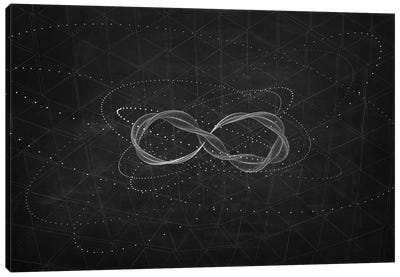 The Chasing Space Series: Loop II (Dark) Canvas Art Print
