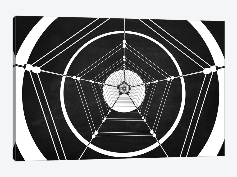 Penta (Dark) by Marco Bagni 1-piece Canvas Art Print