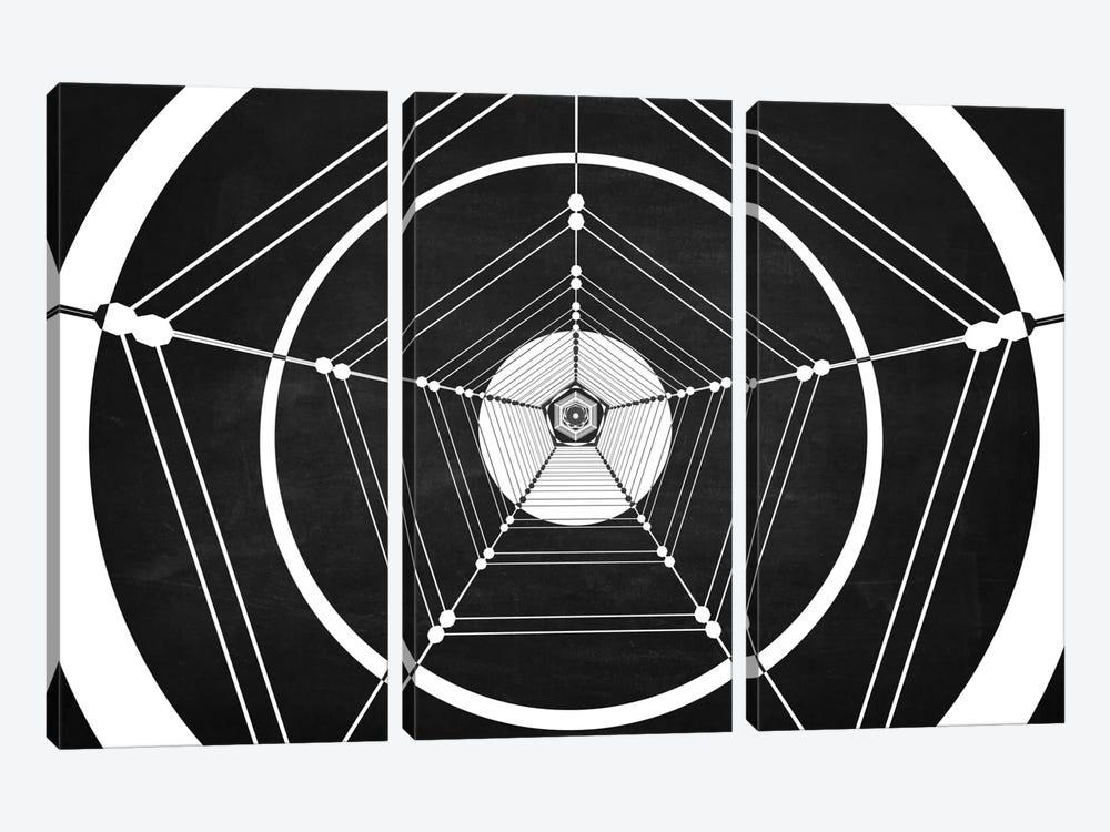 Penta (Dark) by Marco Bagni 3-piece Canvas Art Print