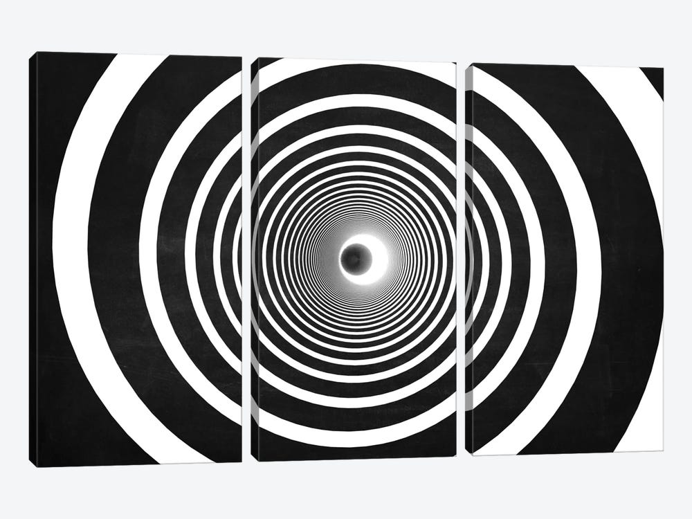 Spiral (Dark) by Marco Bagni 3-piece Art Print