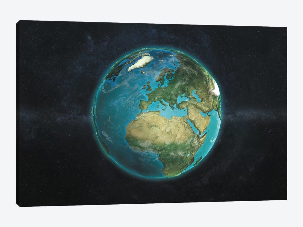 The Globe Series: A Physical View Of Europe by Marco Bagni 1-piece Canvas Print