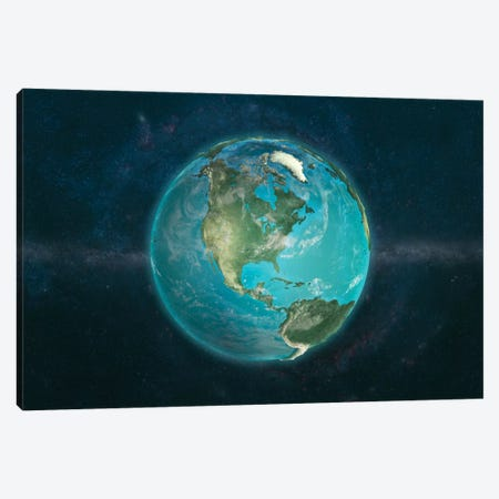 A Physical View Of The Americas Canvas Print #MBA4} by Marco Bagni Canvas Art