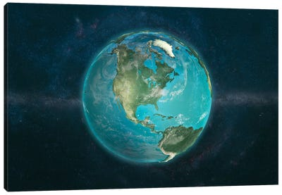 The Globe Series: A Physical View Of The Americas Canvas Art Print