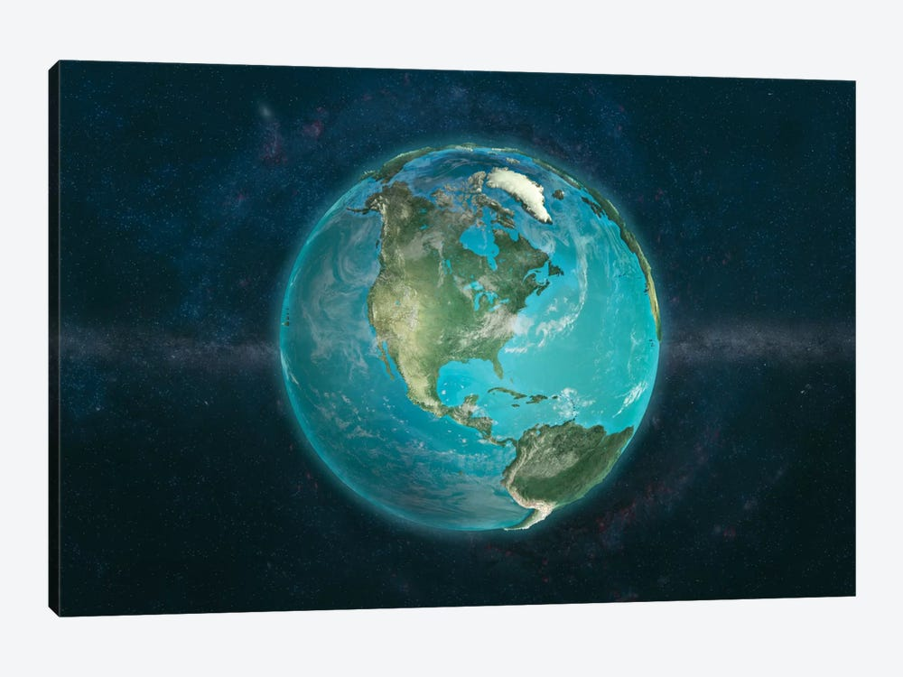 The Globe Series: A Physical View Of The Americas by Marco Bagni 1-piece Canvas Art