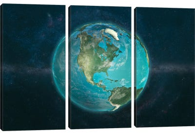 A Physical View Of The Americas Canvas Art Print