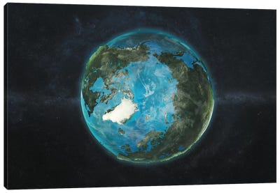 A Physical View Of The Arctic Canvas Art Print