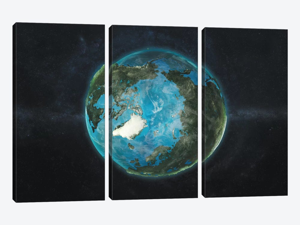 A Physical View Of The Arctic by Marco Bagni 3-piece Canvas Print