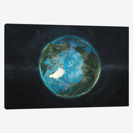 A Physical View Of The Arctic Canvas Print #MBA5} by Marco Bagni Canvas Wall Art