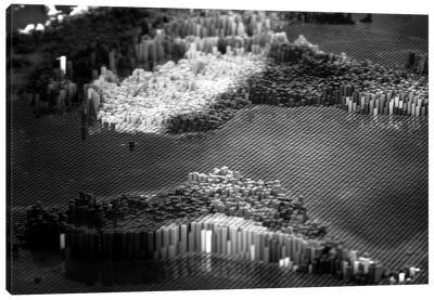 Pixelated Atlantic Canvas Art Print