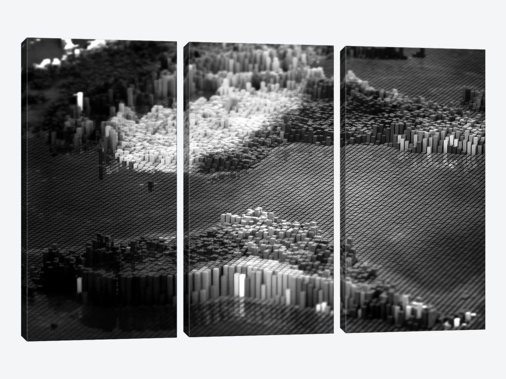 Pixelated Atlantic by Marco Bagni 3-piece Art Print