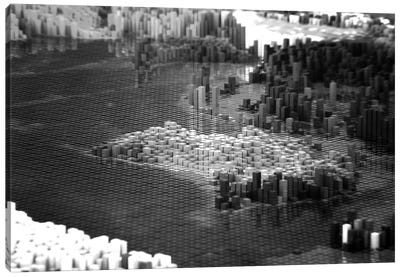 Pixelated Australia Canvas Print #MBA64