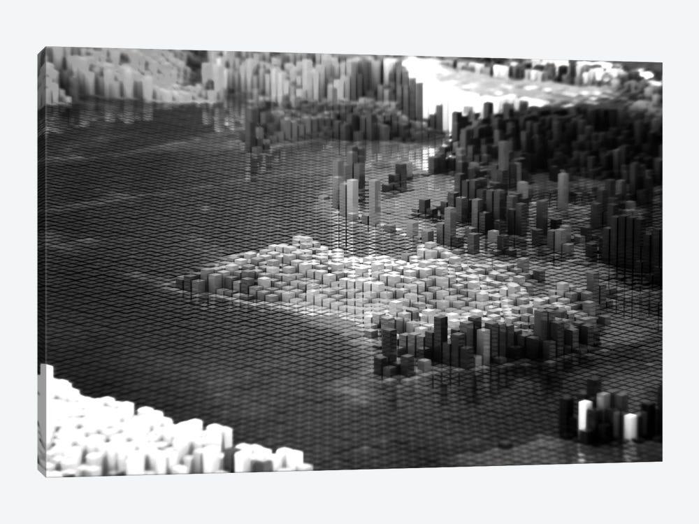 Pixelated Australia by Marco Bagni 1-piece Canvas Artwork