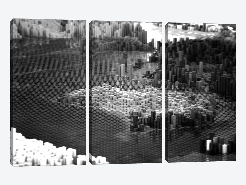 Pixelated Australia by Marco Bagni 3-piece Canvas Wall Art