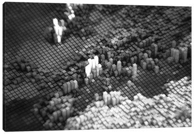 Pixelated Europe Canvas Print #MBA65