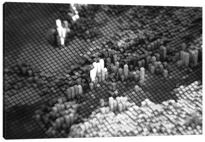 Pixelated Europe Canvas Art Print