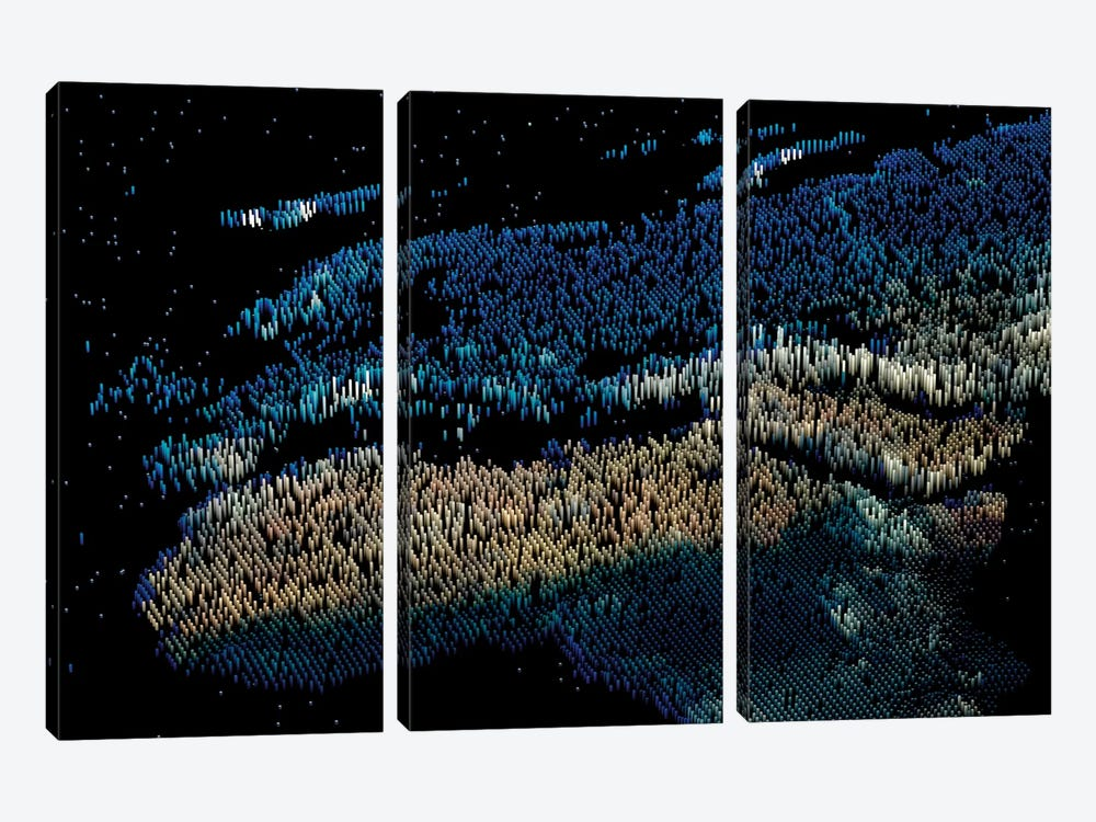 Spiked Europe by Marco Bagni 3-piece Canvas Artwork