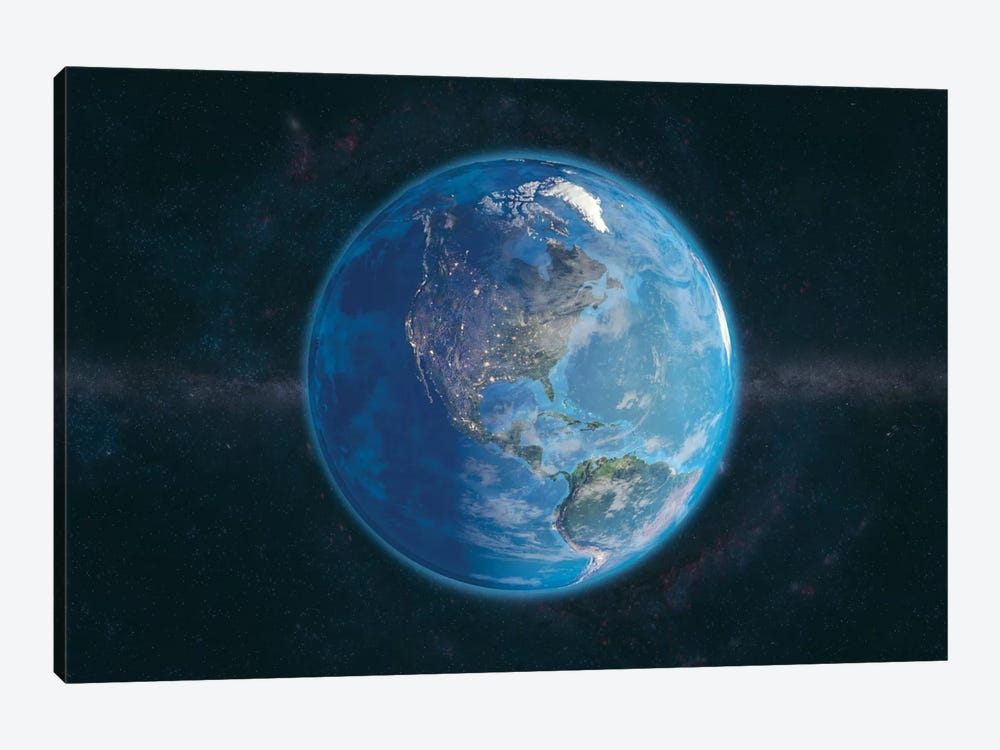 Day and Night In The Americas by Marco Bagni 1-piece Canvas Wall Art