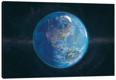 The Globe Series: Day and Night In The Americas Canvas Print #MBA8