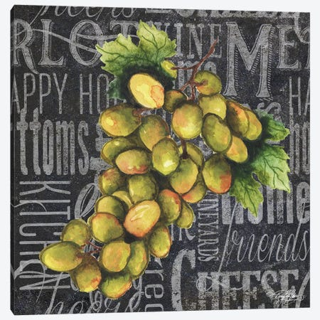 Wine Grapes I 3-Piece Canvas #MBB4} by Mary Beth Baker Canvas Art Print