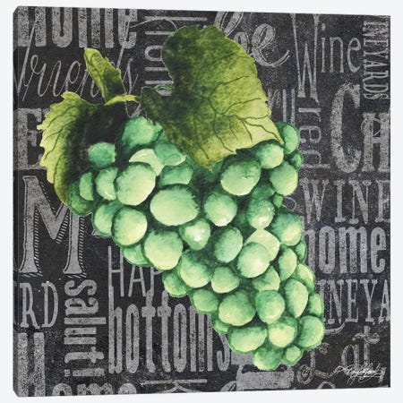 Wine Grapes II 3-Piece Canvas #MBB5} by Mary Beth Baker Canvas Print